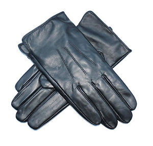 Jasmine-Silk-Mens-Luxury-Genuine-Lambskin-Leather-Cashmere-Lined-Gloves-BLACK