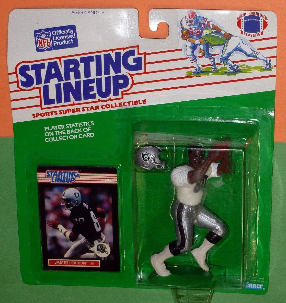 1989 JAMES LOFTON Rookie Los Angeles LA Raiders  FREE s h sole Starting Lineup