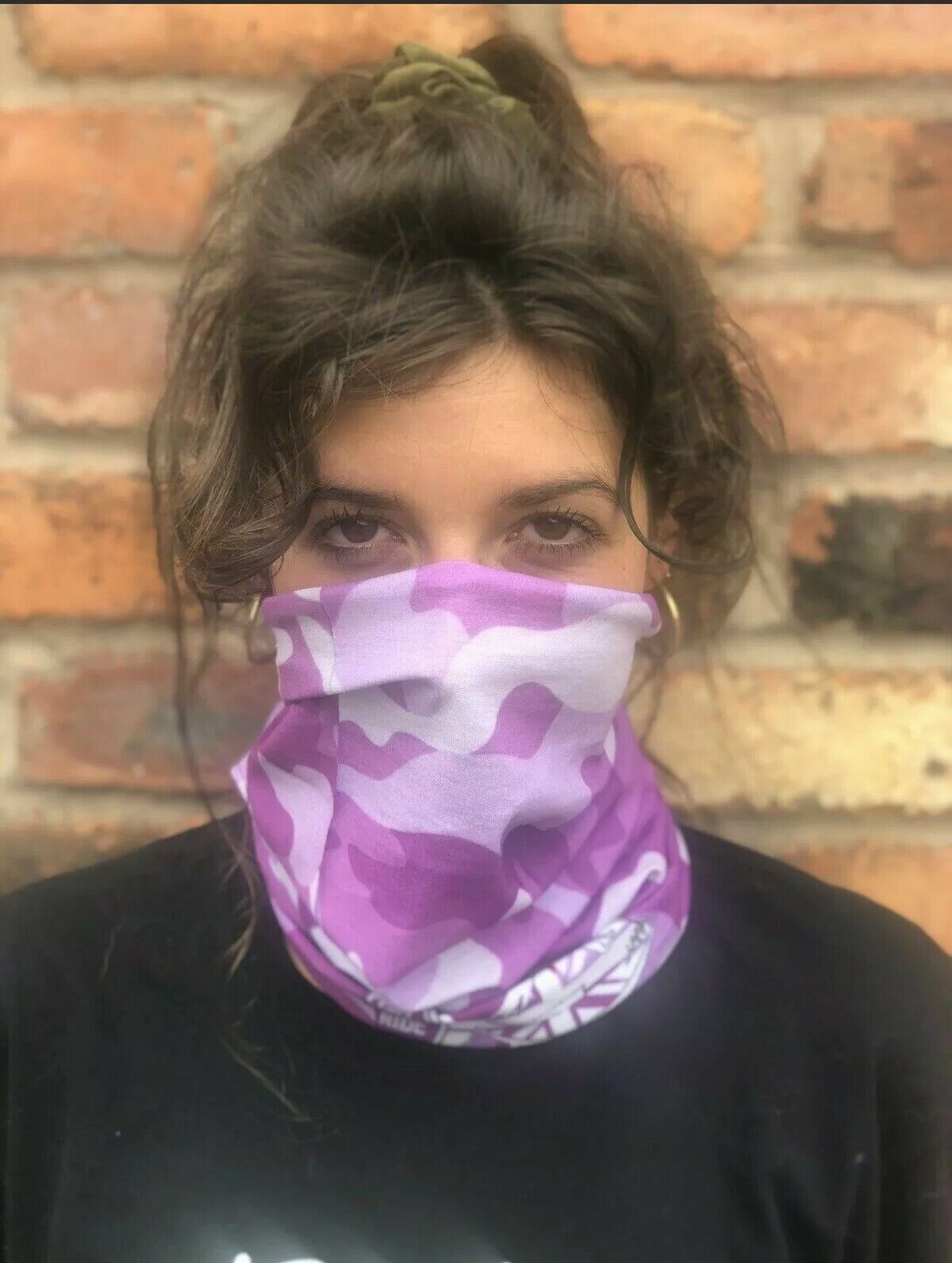 Pink Camouflage FSSR Multi-use Balaclava Face Mask Tube Snood Bandanna Headband