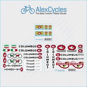 0127 Columbus Tubi Rinforzati Garantiti Bicyclette Autocollants-Decals