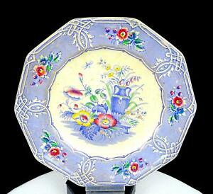 """LP & CO LIVESLEY POWELL & CO INDIAN PATTERN ANTIQUE 8 3/8"""" PLATE 1851-1866"""