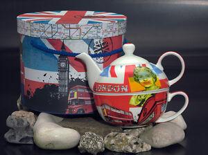 PPD-Tea-for-one-Tea4One-Set-Teekanne-Porzellan-Very-British-England-London-0-35l