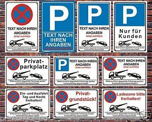 parkplatz schilder parkverbot hinweis schild parkverbotsschild parken verboten ebay. Black Bedroom Furniture Sets. Home Design Ideas