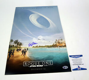 Gareth-Edwards-Signed-Autograph-Star-Wars-Rogue-One-Movie-Poster-Beckett-BAS-COA