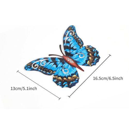 3Pcs Metal Butterfly Wall Art Home Garden Decor Hanging Sculpture Figurine 3D