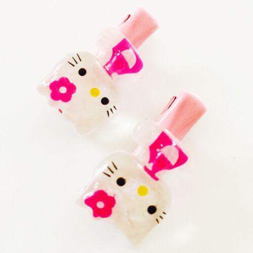USA Bobby Pin Hairpin clip Hello Kitty Accessory Kid Child Baby Pink Mini Small