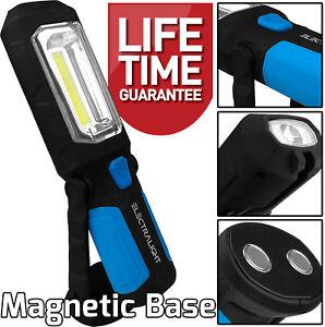 COB LED Work Light Torch Inspection Lamp Magnetic Flash Light Cordless WorkLight