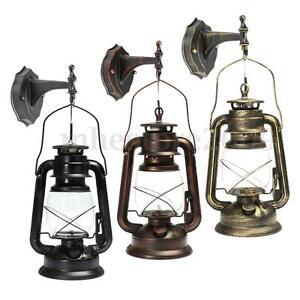 rustic antique vintage style e27 retro lantern wall lamp sconce light fixture ebay. Black Bedroom Furniture Sets. Home Design Ideas