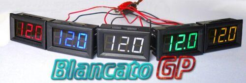 Voltmeter digital 3-30v LED Blue Voltage Tester Panel Car Motorcycle RV