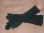 GORGEOUS-Vintage-1940-039-s-Black-Beaded-Cotton-Evening-Gloves thumbnail 2