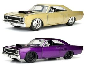 1-24-scale-1970-Plymouth-Road-Runner-CHAMPAGNE-PURPLE-by-Jada-Bigtime-Muscle