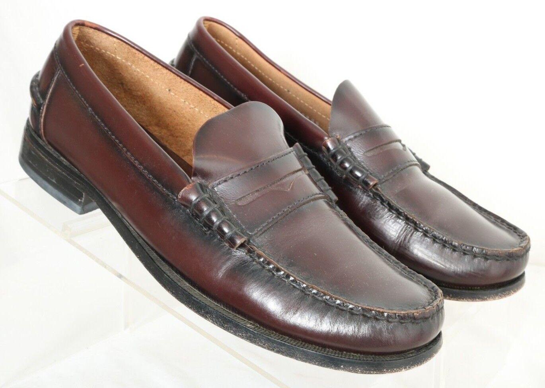 Florsheim 17058 Berkley Burgundy Moc Toe Dress Penny Loafers Men's US 7D