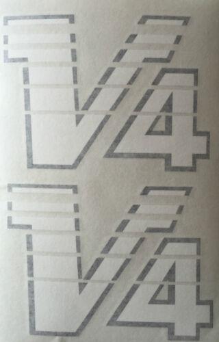 "YAMAHA RD500LC RZV500 /""V-4/"" FAIRING DECALS X 2 RED//BLACK MODEL"
