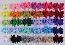 "New 30pcs  girl baby toddler kids 3"" boutique Hair Bows Grosgrain ribbon 355"