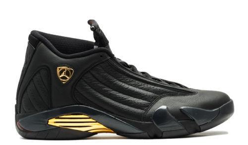 2018 nike air jordan negro 14 XIV DMP oro negro jordan comodo Wild Casual Shoes f57cf5