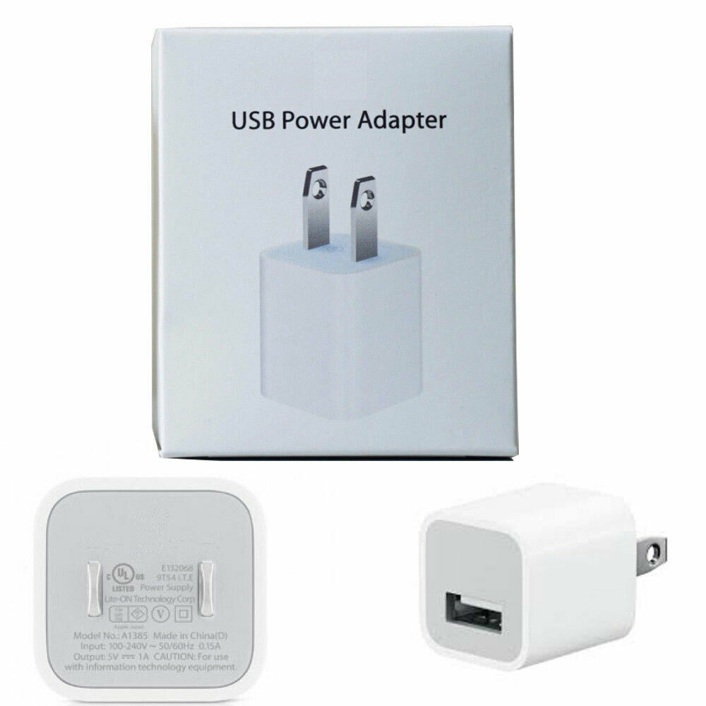 Details about OEM 5W USB Wall Charger Cube Power Adapter Plug Apple iPhone 5 6 7 8 X XR XS MAX