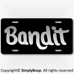 Smokey-amp-The-Bandit-Prop-Reproduction-Aluminum-License-Plate-Silver-Gray-Color
