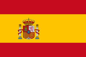 2x Auto Aufkleber Fahne Spanien 8 cm Flagge Vinyl Sticker Flag Decal Spain