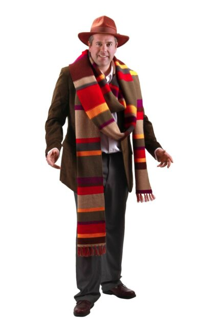 Doctor Who Licensed Fourth Doctor 17 Foot Premium Knit Multi Colored Scarf