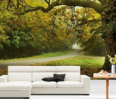 Autumn Park Scenery Tree Road 3D Full Wall Mural Photo Wallpaper Home Decal Kids