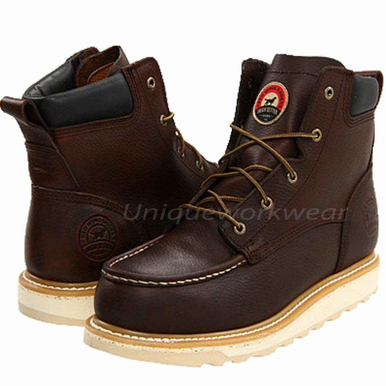 Men's Irish Setter 6  Ashby Aluminum Toe Brown Leather Work Boots