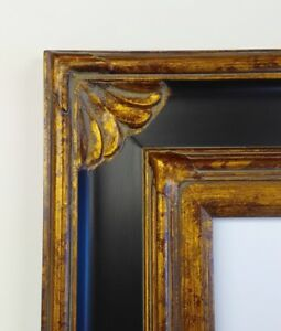Picture Frame 24x36 Vintage Antique Style Ornate Baroque Bronze Gold
