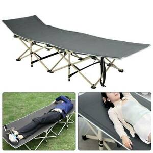 Portable-Single-Folding-Bed-with-Mattress-Camping-Camp-Travel-Guest-Kid-Child-UK