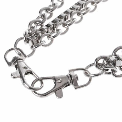 Punk Metal Belt Waist Chain Male Pants Chain Hot Men Jeans Silver Cool fatherday