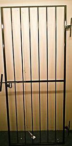 Image Is Loading SECURITY GATE METAL GATE SIDE GATE PEDESTRIAN GATE