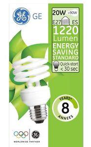 GE-heliax-luminaires-a-economie-d-039-energie-Ampoule-20W-90W-E27-1220lm-2700K