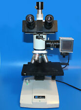 Meiji Ml7000 Metallurgical Microscope Trinocular Head Splan 100x50x20x4x Lens