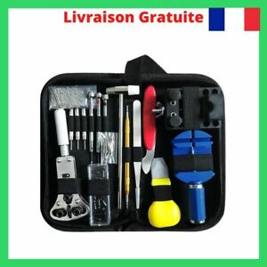 147-Pcs-Montre-Kit-Reparation-Outil-Demonte-Ouvre-Boitier-Cle-Chasse-Goupille-FR