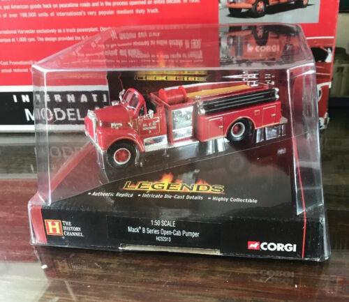 Details about  /Corgi Legends History Channel ~ Mack B Series Open Cab Pumper ~ 1:50 Diecast