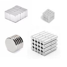 Extrem starke Neodym Scheiben Zylinder Magnete Rund Größe und Anzahl auswählbar