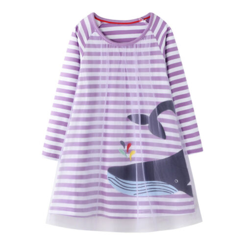 Toddler Baby Girls Christmas Snowman Print Tulle Princess Kids Striped Dress