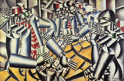 Fernand Leger The Card Players Vintage Print