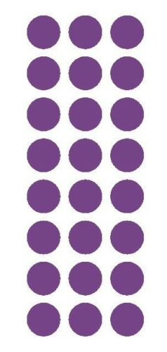 """LAVENDER 1/"""" Round Stickers Color Code Inventory Label Dot Stickers Package Seals"""
