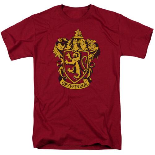 Harry Potter GRYFFINDOR CREST Licensed Adult T-Shirt All Sizes