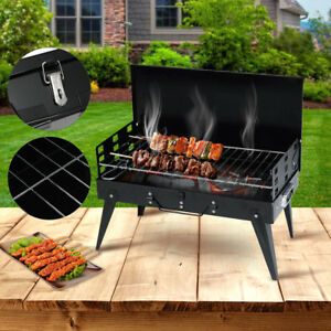 d55557f1f16 Image is loading Portable-Fold-Barbecue-Charcoal-Grill-Stove-Stainless-Steel -