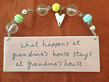 Dept 56 Mesages from the Heart  Hanging procelain sign for Grandma