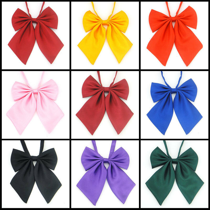 Classic Japan School Girls JK Uniform Bow Tie Pure Color Lolita Necktie Cosplay