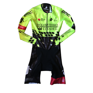 New 2018 Men's Hincapie Racing Team Arrow LS Cycling Speedsuit, Hi-Vis, Size XS