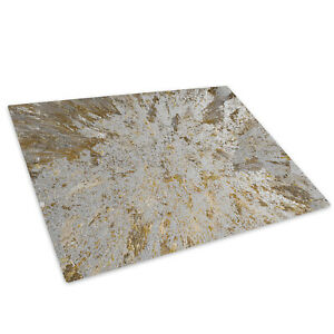 Gold White Brown Marble Glass Chopping Board Kitchen