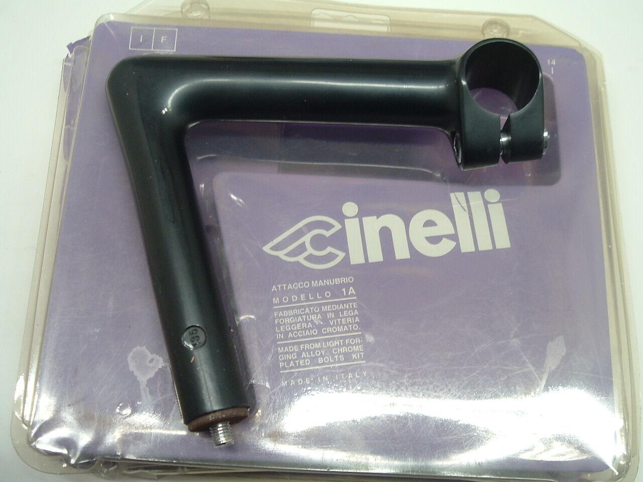Cinelli 1a Ala de Logo Nuevo 135mm Negro Potencia Vintage- 22.2mm X 26.4mm-