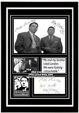 (##76) the kray twins ronald & reggie kray signed a4 photo/mounted/framed @@@@@@
