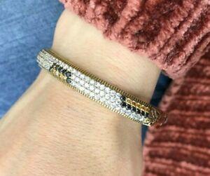Turkish-Handmade-Jewelry-Sterling-Silver-925-Zircon-Bracelet