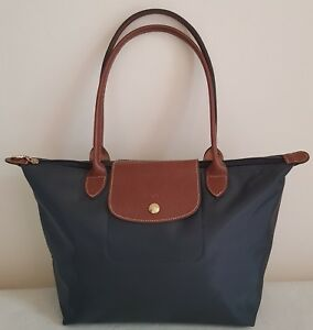 41cb8579646c Image is loading Auth-Longchamp-Le-Pliage-Gunmetal-Grey-Nylon-LARGE-