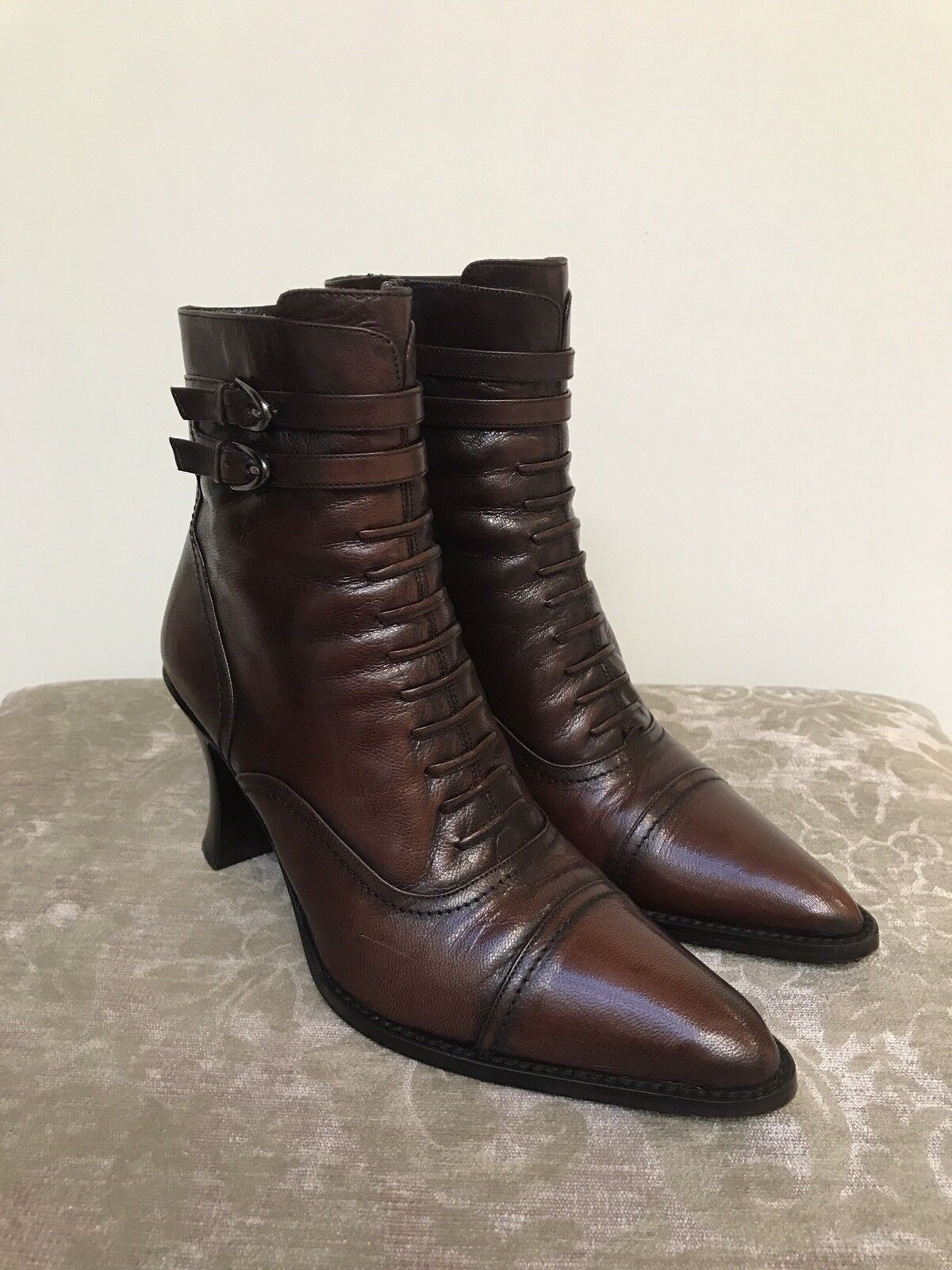 Via Spiga  Olbia  Leather Boots Size 6 1 2 M Made In