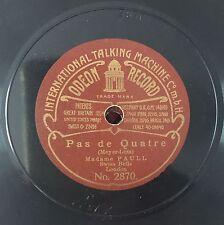 "RARE 78 RPM 7""1/2 ODEON RECORD MADAME PAULL PAS DE QUATRE/THE ONLY GIRL I LOVE"
