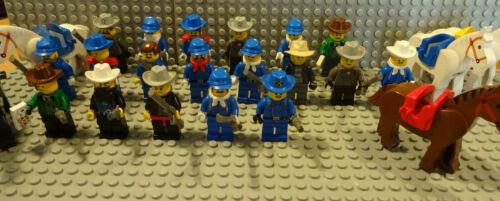 LEGO 5x WESTERN FIGUREN MIT ZUBEHÖR /& JE 1 PFERD 6769 GEBRAUCHT kg TOP J8 // 1